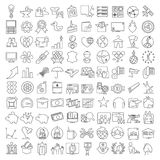 Miscellaneous thin line icons set Stock Image