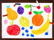Miscellaneous types of fruits Royalty Free Stock Photo