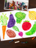 Miscellaneous types of vegetables Stock Images