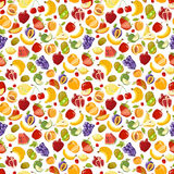 Miscellaneous vector fruits seamless pattern Stock Image