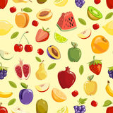 Miscellaneous vector fruits seamless pattern Stock Photo