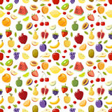 Miscellaneous vector fruits seamless pattern Royalty Free Stock Images