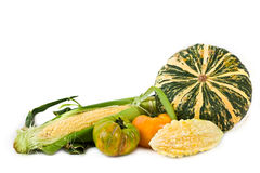 Miscellaneous Vegetables. Miscellaneous fresh vegetables isolated on white background stock images