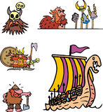 Miscellaneous viking cartoons Stock Photography