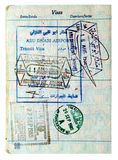 Miscellaneous Visa's and Passport Stamps Royalty Free Stock Images