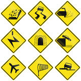 Miscellaneous Warning Signs In Chile Stock Photography