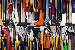 Miscellaneous work tools. Stock Images