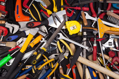 Miscellaneous work tools. Royalty Free Stock Images