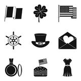 Miscellany icons set, simple style Stock Photo