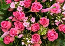 Misch-boquet mit colorfull Rosarosen Stockbilder