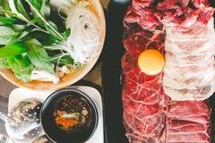 Mischen Sie thailändisches Rindfleisch mit Ei für thailändische Art der SabU Lizenzfreies Stockbild
