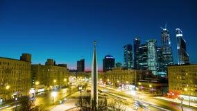 Mischen Sie verschiedene Arten von verschiedenen Videoarten von Moskau stock video