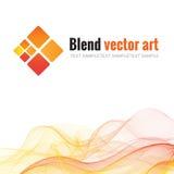 Mischen Sie Welle und Paralleltrapez Schatten des Gelbs, orange Stockfotografie