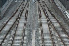 Mischen von Eisenbahnlinien Stockbild
