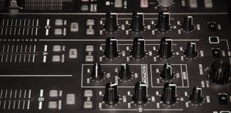 Mischende Audiokonsole Lizenzfreie Stockfotos