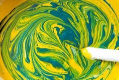 Mischende Farben stockfotografie