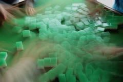 Mischende Mahjong-Fliesen Stockfotografie