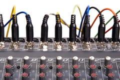 Mischender Audiovorstand Stockfotos