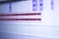Mischender Schreibtisch des Tonstudios Lizenzfreies Stockfoto