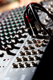 Mischendes Audiopanel Stockfoto
