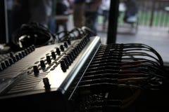 Mischendes Brett für Live Audio Lizenzfreies Stockfoto