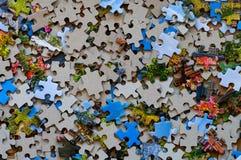 Mischfarbpuzzlespielstücke Lizenzfreies Stockfoto