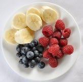 Mischfrucht-Platte Lizenzfreie Stockbilder