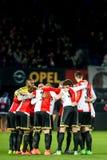 Mischia motivazionale dei giocatori di Feyenoord Fotografia Stock Libera da Diritti