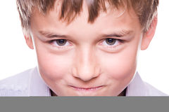 Mischievous boy Stock Photos