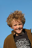 Mischievous  Boy. Portrait of a boy (7) , definitly up to no good Royalty Free Stock Photography