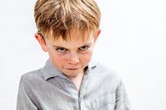 Free Mischievous Bully Child Expressing Revenge, Retaliation Or Attitude Problem, Isolated Royalty Free Stock Image - 162514796