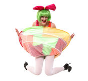 Mischievous clown Royalty Free Stock Image