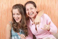 Mischievous family Royalty Free Stock Images