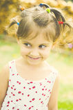 Mischievous girl Stock Photo