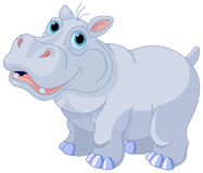 Mischievous hippo. Illustration of very cute hippo Stock Images