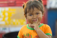 Mischievous little girl portrait Stock Image