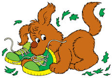 Mischievous Pup. Vector clip-art /children's book illustration for your design, scrapbook Stock Image