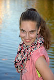 Mischievous  teenager girl Royalty Free Stock Images