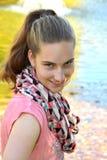 Mischievous  teenager girl Stock Photos