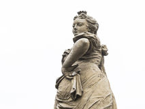 Mischievous woman statue. Cunning, mischievous and wily look of a woman statue Royalty Free Stock Photography