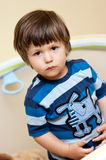 Mischievous young boy Stock Photos