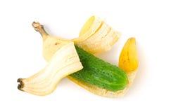 Mischling der Banane und der Gurke Lizenzfreie Stockfotografie