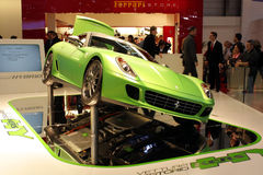 Mischling Ferrari-599 an der Autoausstellung 2010, Genf lizenzfreies stockbild