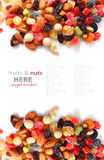 Mischnüsse und trockene Früchte Stockfoto