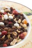 Mischnüsse und Trockenfrüchte stockbild