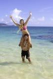 Mischpaare in Hawaii lizenzfreie stockfotografie