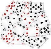 Mischspielkarten Stockbild