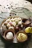 Mischung aller indischen Bonbons lizenzfreies stockfoto