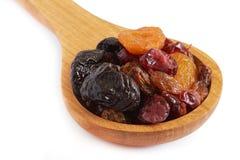 Mischung der getrockneten Früchte stockfotos