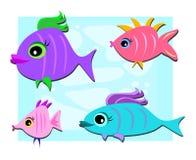Mischung der netten Fische Stockfoto